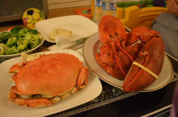 Christmas 2012 - I advocate for the installment of Christmas shellfish as a new tradition.