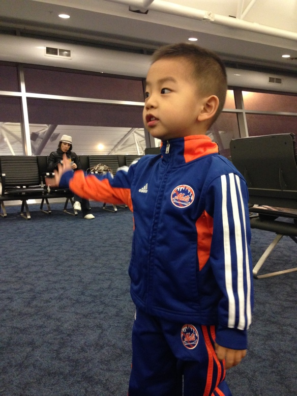 """Mommy, you dunno if we can fly out?  But the plane is right there!"""